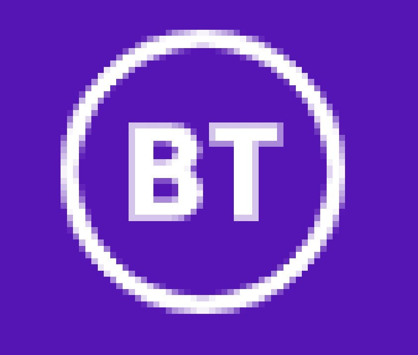 This infographic shows the logo for the BT business phone system and business phone systems company.