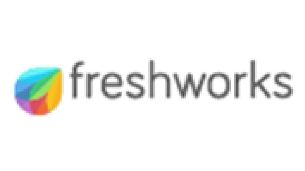 This infographic shows the Freshworks CRM systems logo.