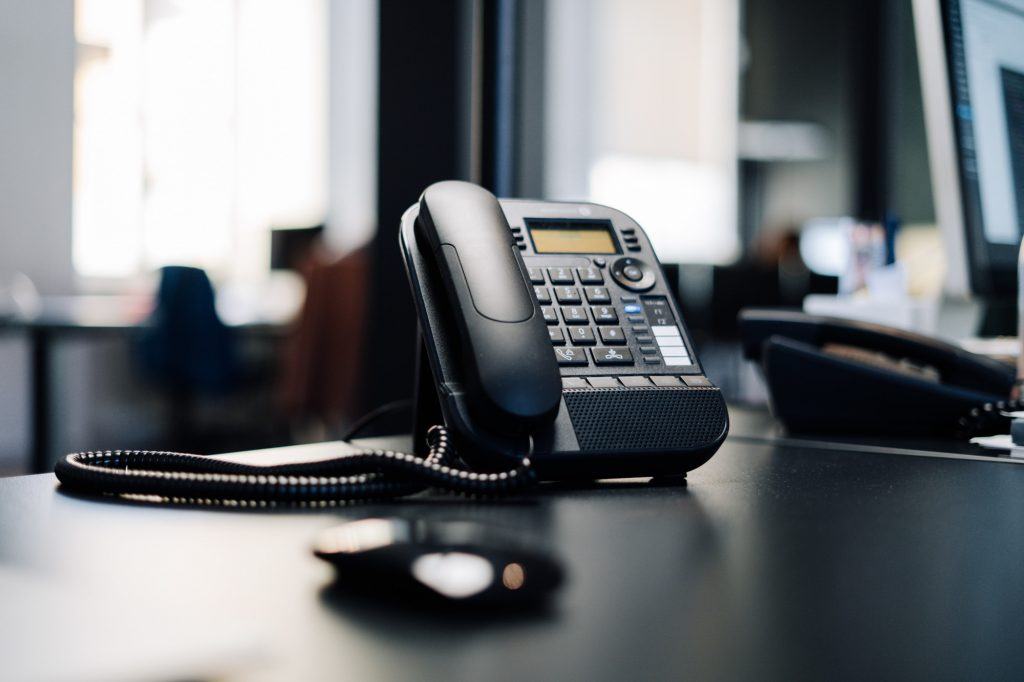 This is the main photograph for the article Guide to PBX business phone systems. It shows a business phone on a desk.