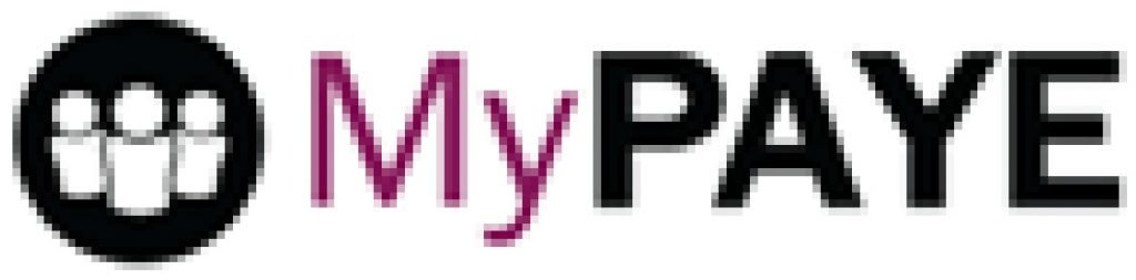 This infographic shows the logo for the MyPAYE small business payroll services company.