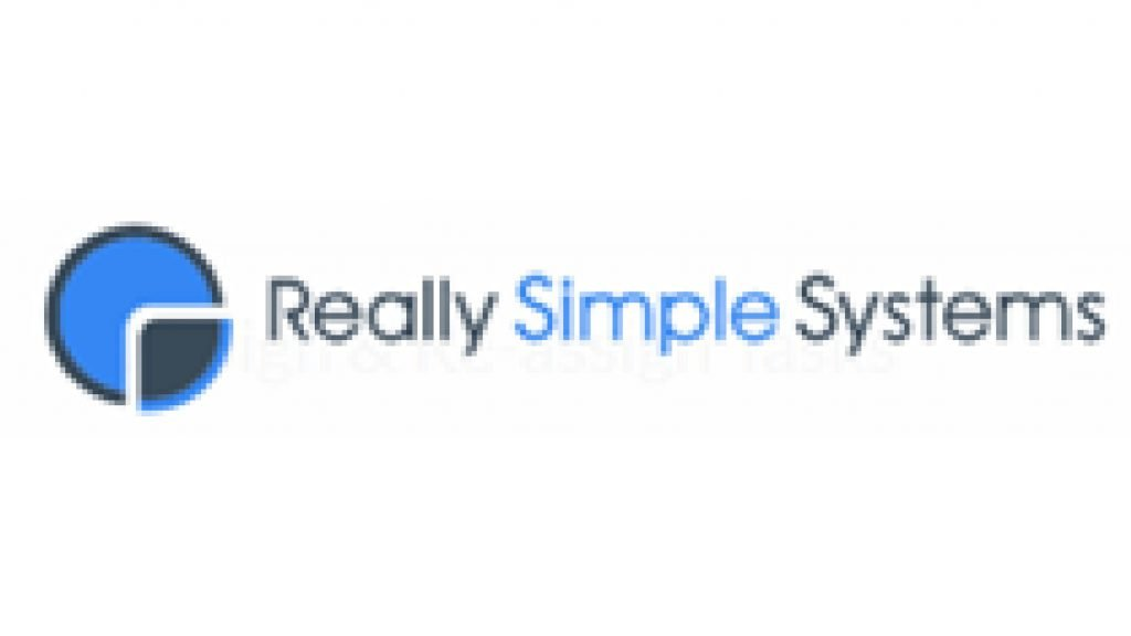 This infographic shows the Really Simple Systems CRM systems logo.