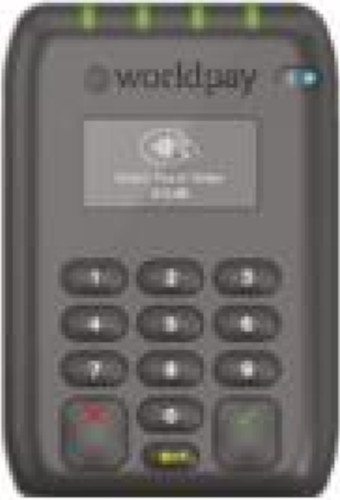 This infographic shows the Worldpay mobile card reader.