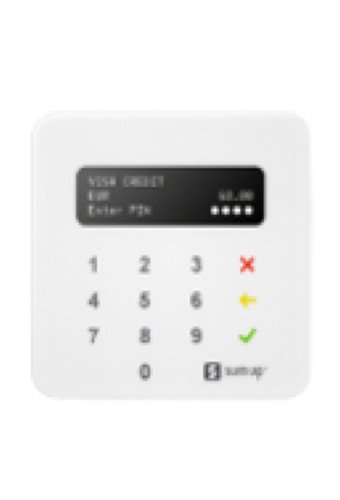 This infographic shows the Sum up mobile card reader.